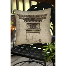 Column I Indoor/Outdoor Throw Pillow