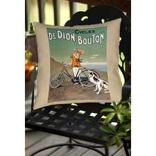 Cycles De Doin Bouton Indoor/Outdoor Throw Pillow