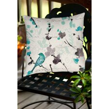 Flowing Florals Indoor/Outdoor Throw Pillow