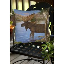 Majestic Moose Indoor/Outdoor Throw Pillow