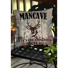 Mancave II Indoor/Outdoor Throw Pillow