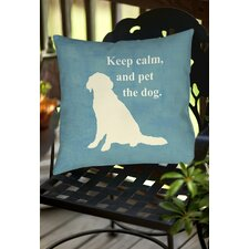 Bargain Keep Calm and Pet the Dog Indoor/Outdoor Throw Pillow