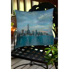 Manhattan Tower of Hope Indoor/Outdoor Throw Pillow