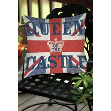 My Queen Castle Square Indoor/Outdoor Throw Pillow