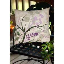 Lavender and Sage Flourish Indoor/Outdoor Throw Pillow