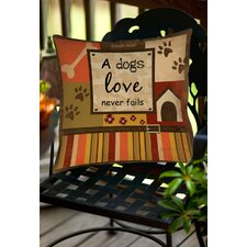 Best Choices Love Never Fails Indoor/Outdoor Throw Pillow