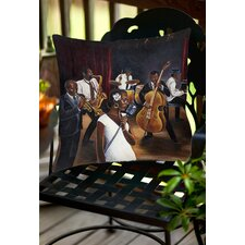 Jazz Affair Indoor/Outdoor Throw Pillow