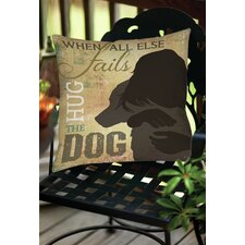 Hug the Dog Indoor/Outdoor Throw Pillow