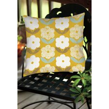 Jar of Sunshine Vintage Blossoms Indoor/Outdoor Throw Pillow