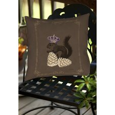 Luxury Lodge Squirrel Indoor/Outdoor Throw Pillow