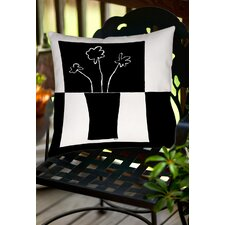 Minimalist Flower in Vase 2 Indoor/Outdoor Throw Pillow