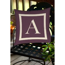 Classic Block Monogram Polyester Throw Pillow