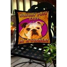 Sassys Dog Baby Indoor/Outdoor Throw Pillow