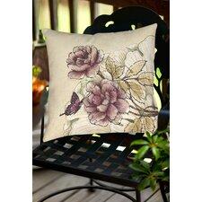 Rosette Butterfly Indoor/Outdoor Throw Pillow