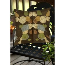 Rorschach Abstract Indoor/Outdoor Throw Pillow