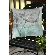 Ombre Wildflowers 1 Indoor/Outdoor Throw Pillow