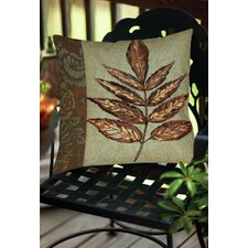 Golden Leaf 2 Indoor/Outdoor Throw  Pillow