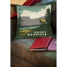 Fresh Rocky Mountain National Park Indoor/Outdoor Throw Pillow