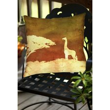 Safari Sunrise 4 Indoor/Outdoor Throw Pillow