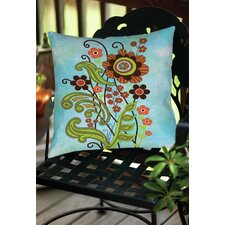 Flower Power Stems Indoor/Outdoor Throw Pillow