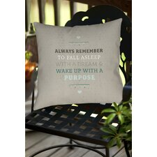 Purposeful Dream Indoor/Outdoor Throw Pillow