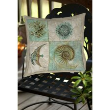 Sea Life 2 Indoor/Outdoor Throw Pillow