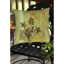 Collage Blossoms Indoor/Outdoor Throw Pillow