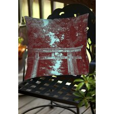 Nikko Gate Indoor/Outdoor Throw Pillow