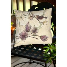 Rosette Bird Indoor/Outdoor Throw Pillow