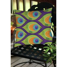 Peacock Pattern 10 Indoor/Outdoor Throw Pillow