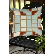 Garden Tile 4 Indoor/Outdoor Throw Pillow