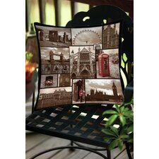 England Indoor/Outdoor Throw Pillow