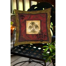 Palm Breezes V Indoor/Outdoor Throw Pillow