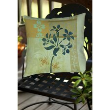 Collage Blossoms Patterned Indoor/Outdoor Throw Pillow