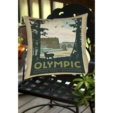 Olympic Indoor/Outdoor Throw Pillow