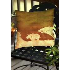 Cool Safari Sunrise 2 Indoor/Outdoor Throw Pillow