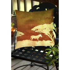 Safari Sunrise 3 Indoor/Outdoor Throw Pillow