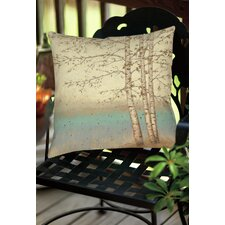 Modern Golden Birch 1 Indoor/Outdoor Throw Pillow