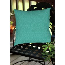 Flowing Damask Indoor/Outdoor Throw Pillow