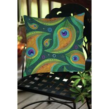 Peacock 9 Indoor/Outdoor Throw Pillow