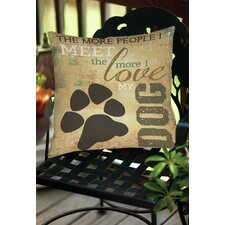 Great Reviews People vs Dog Indoor/Outdoor Throw Pillow