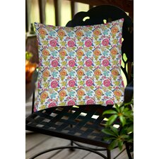 Shangri La Leaves Indoor/Outdoor Throw Pillow