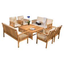 Dakota 8 Piece Dining Set with Cushion
