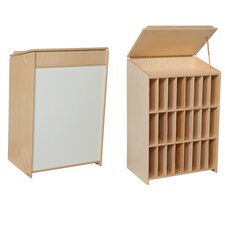 Sign In Center 24 Compartment Book Display with Bins