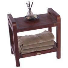 Outdoor Teak Storage End Table