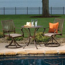 Reviews Island Breeze 3 Piece Slatted Dining Bistro Set