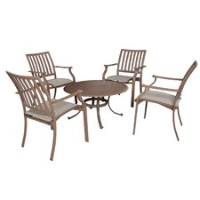 No Copoun Island Breeze 5 Piece Dining Set