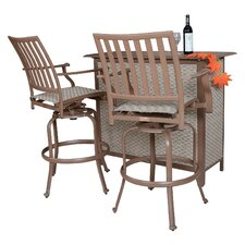 Island Breeze 3 Piece Slatted Bar Set