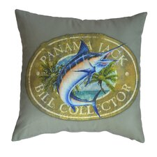 Bill Collector Indoor/Outdoor Throw Pillow (Set of 2)