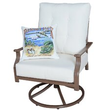 Island Breeze Swivel Chair with Cushions
